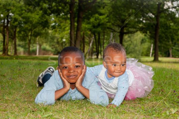 Afrika çocuklar portre mutlu küçük güzel Stok fotoğraf © DNF-Style