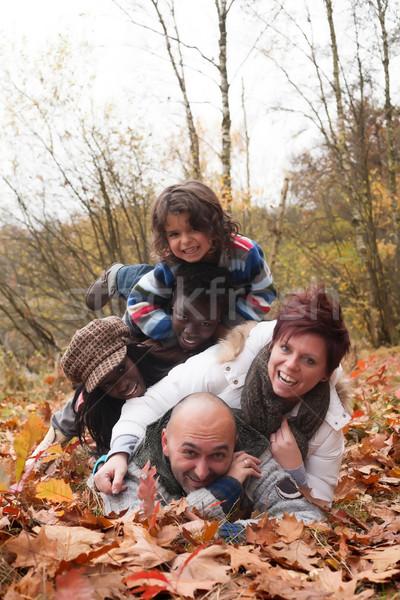 Mutlu aile mutlu aile çocuklar orman doğa Stok fotoğraf © DNF-Style