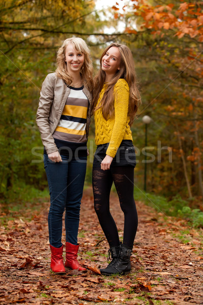 happy teenagers in the forest Stock photo © DNF-Style
