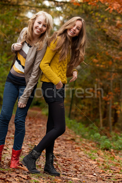 Smiling teenagers in the forest Stock photo © DNF-Style