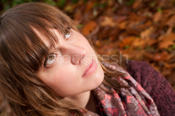 Outono cara mulher jovem frio sorrir mulheres Foto stock © DNF-Style