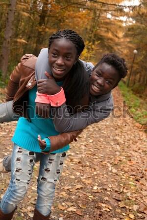Mijn adoptie zus gelukkig kinderen Stockfoto © DNF-Style
