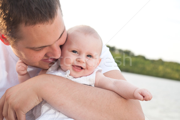 Happy father and baby Stock photo © DNF-Style