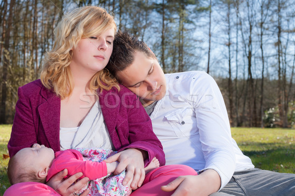 Young family enjoying the good weather Stock photo © DNF-Style