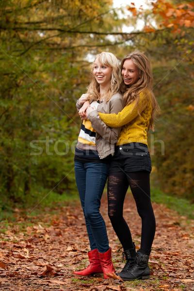 Sprawdzić kolorowy dziewcząt lasu kobiet Zdjęcia stock © DNF-Style