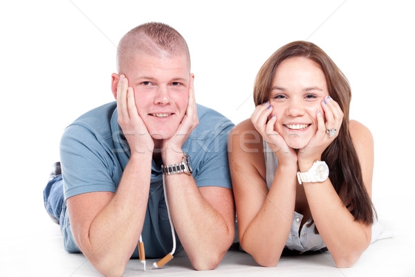 Smiling young couple Stock photo © DNF-Style
