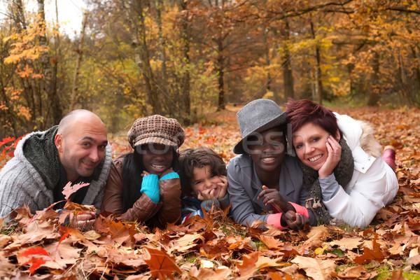 Família família feliz crianças floresta feliz natureza Foto stock © DNF-Style