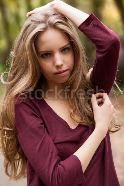 Genç poz kızlar orman kız Stok fotoğraf © DNF-Style
