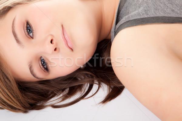 Menina branco jovem adolescente estúdio adolescente Foto stock © DNF-Style