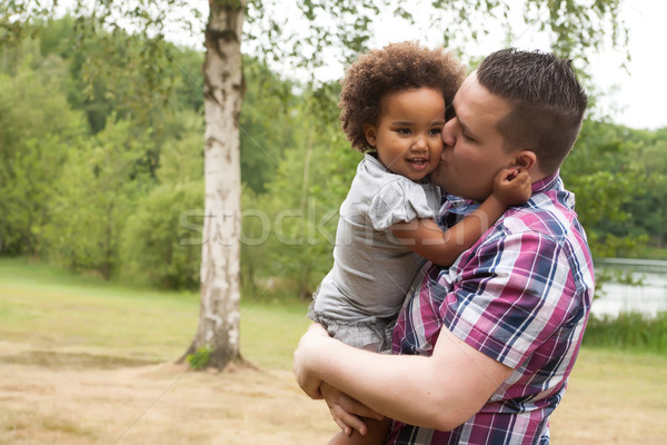 Daddy and his little girl Stock photo © DNF-Style