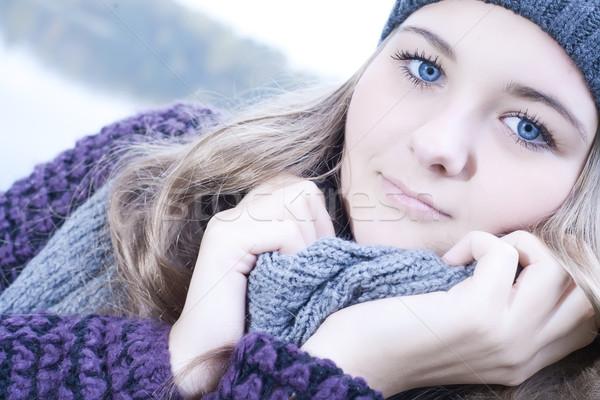 Frio inverno retrato jovem bom Foto stock © DNF-Style