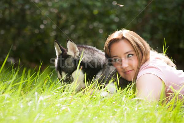 Ragazza husky foresta donna amore Foto d'archivio © DNF-Style