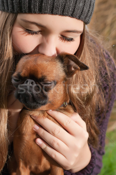 Enjoying with the dog Stock photo © DNF-Style