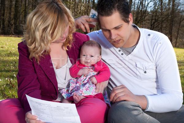 молодые семьи рецессия финансовых Сток-фото © DNF-Style