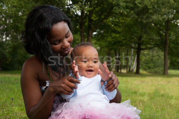 African mother and her girl Stock photo © DNF-Style