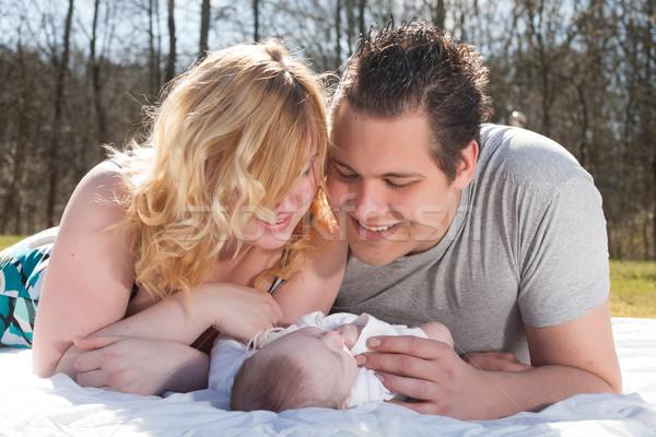Jovem pais bebê família bom tempo Foto stock © DNF-Style