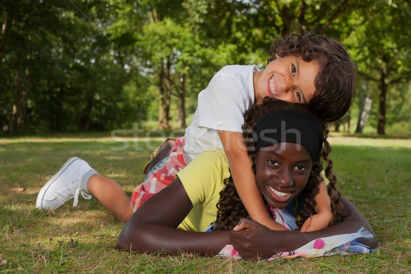 ライディング 採用 姉妹 幸せ アフリカ ストックフォト © DNF-Style