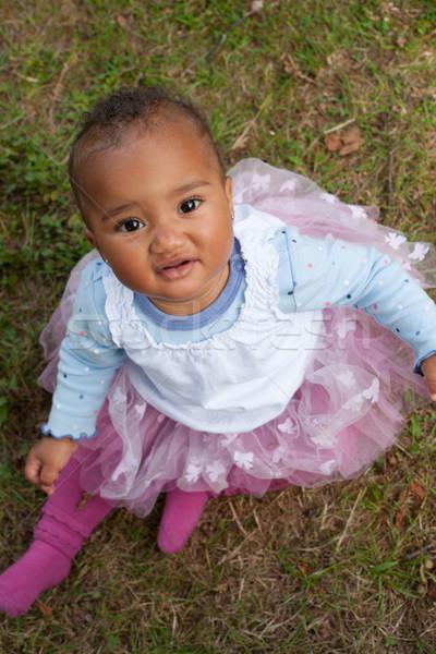 Africano little girl acima feliz pequeno criança Foto stock © DNF-Style