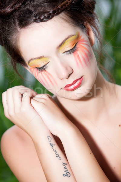 Jovem beleza mulher floresta belo Foto stock © DNF-Style