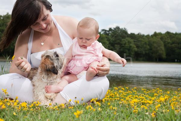 Doce pequeno família mãe filha bom Foto stock © DNF-Style