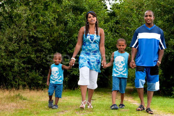 Family is walking in nature Stock photo © DNF-Style