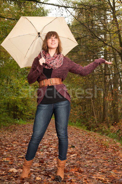 Girl wants to know if its raining Stock photo © DNF-Style