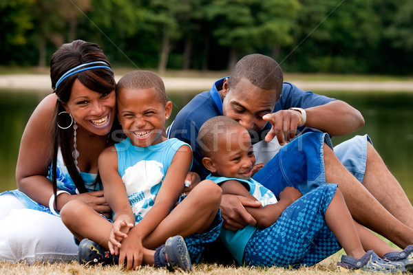 African family having fun Stock photo © DNF-Style