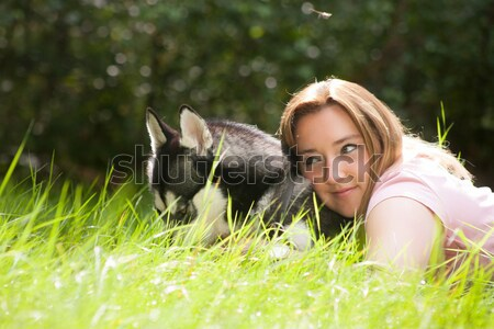 Woman and her dog Stock photo © DNF-Style