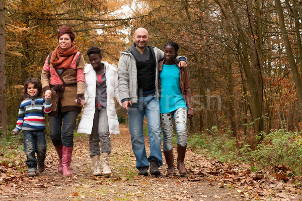 Família família feliz crianças floresta feliz Foto stock © DNF-Style