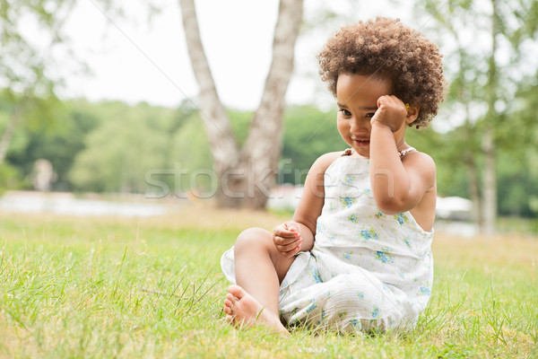 African girl on the grass Stock photo © DNF-Style