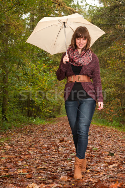 Girl is having a nice time with her umbralla Stock photo © DNF-Style