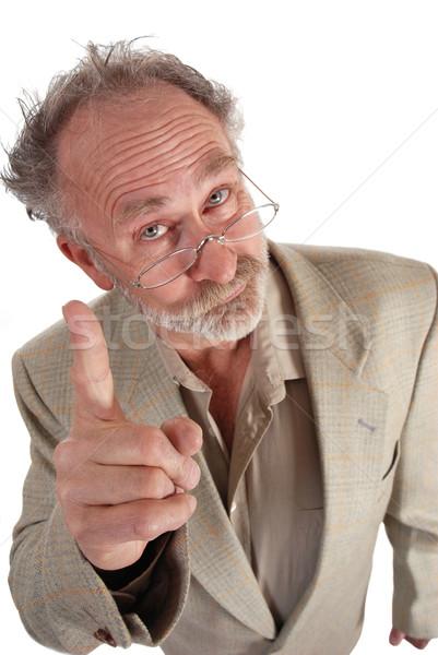 профессор указывая рыбий глаз выстрел человека школы Сток-фото © dnsphotography