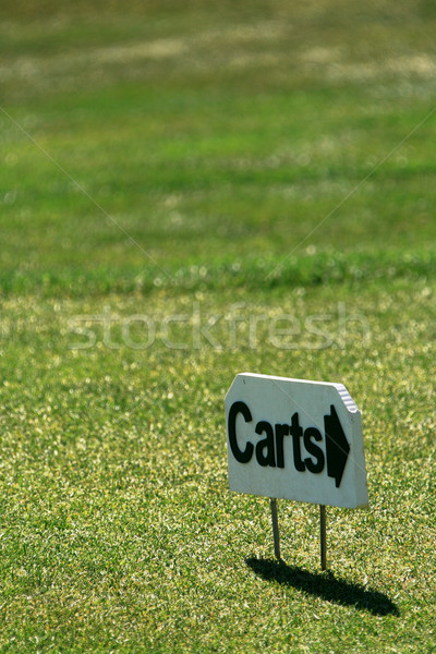 Golf kosár felirat fű sport Stock fotó © dnsphotography
