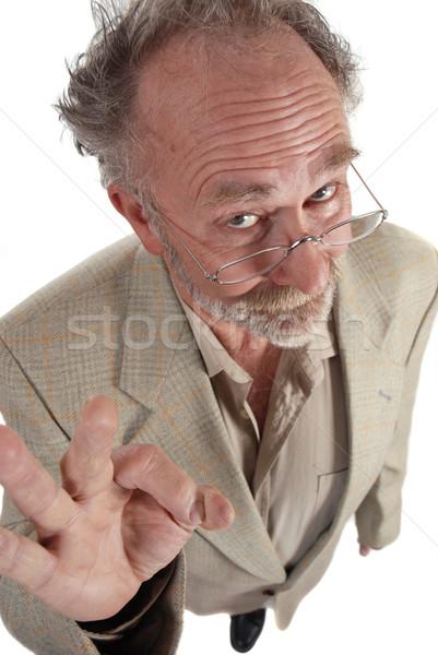 Tanár készít ok kézmozdulat férfi iskola Stock fotó © dnsphotography