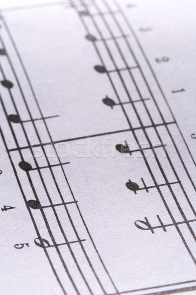 Music Notes Stock photo © dnsphotography