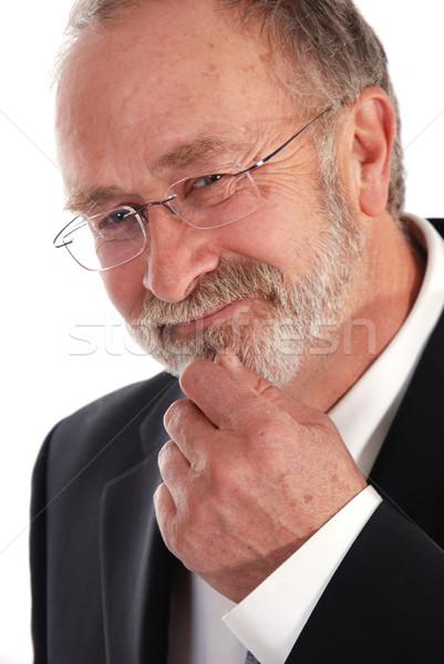 Altos empresario cara hombre feliz gafas Foto stock © dnsphotography