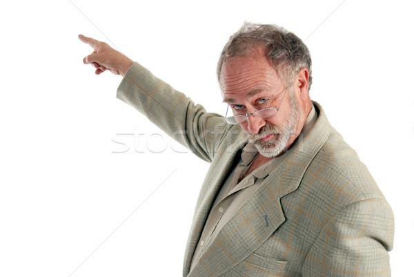 Profesör işaret beyaz tahta adam okul çalışmak Stok fotoğraf © dnsphotography