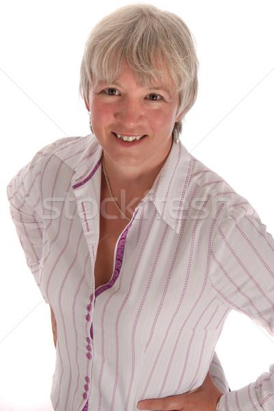 Smiling Senior Business Woman on White Stock photo © dnsphotography