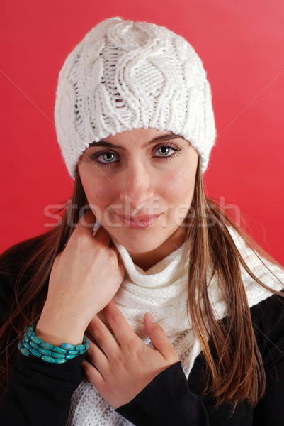 Invierno belleza mujer hermosa mujer nina Foto stock © dnsphotography