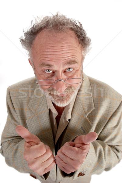 Profesör adam okul eğitim gözlük Stok fotoğraf © dnsphotography