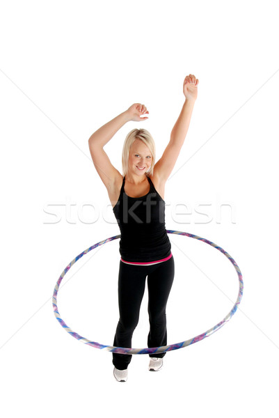 Kız kadın spor spor salonu Stok fotoğraf © dnsphotography