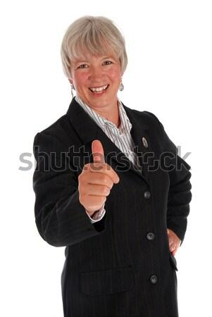 Supérieurs femme d'affaires blanche bureau sourire Photo stock © dnsphotography