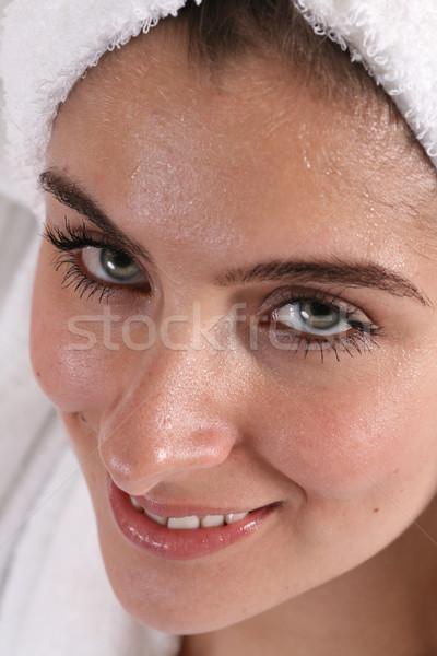 ıslak kız havlu kadın yüz saç Stok fotoğraf © dnsphotography
