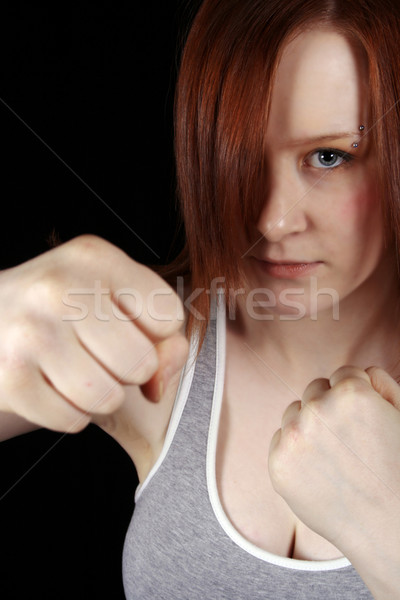 red head boxer Stock photo © dnsphotography
