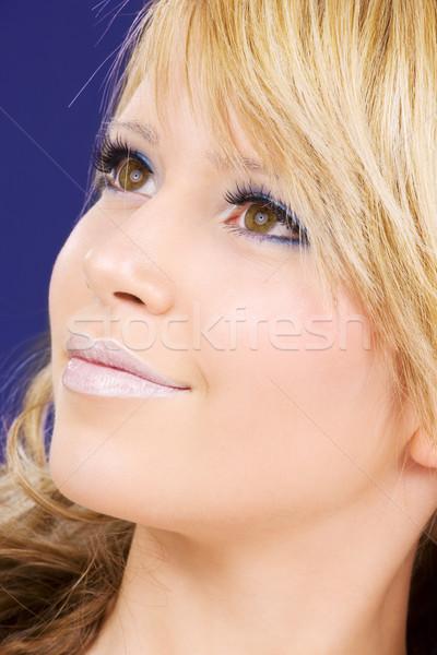 мечтатель фотография счастливым женщину Сток-фото © dolgachov