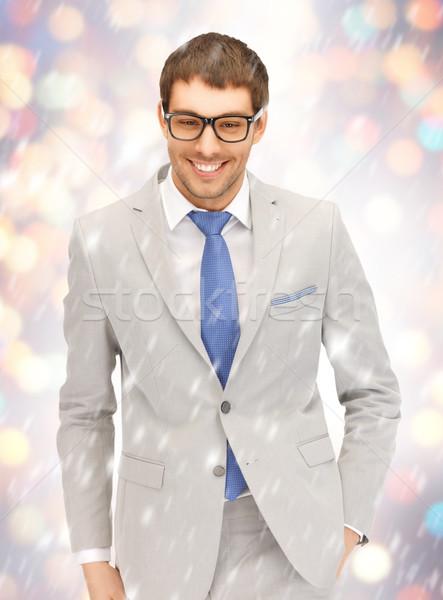 Feliz empresario gafas retrato Foto negocios Foto stock © dolgachov