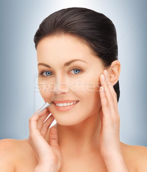 Geen meer acne heldere portret Stockfoto © dolgachov