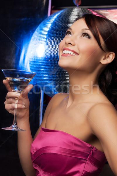 女性 カクテル ディスコボール 美人 イブニングドレス パーティ ストックフォト © dolgachov