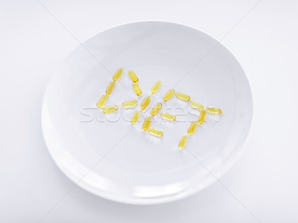 plate with meds Stock photo © dolgachov