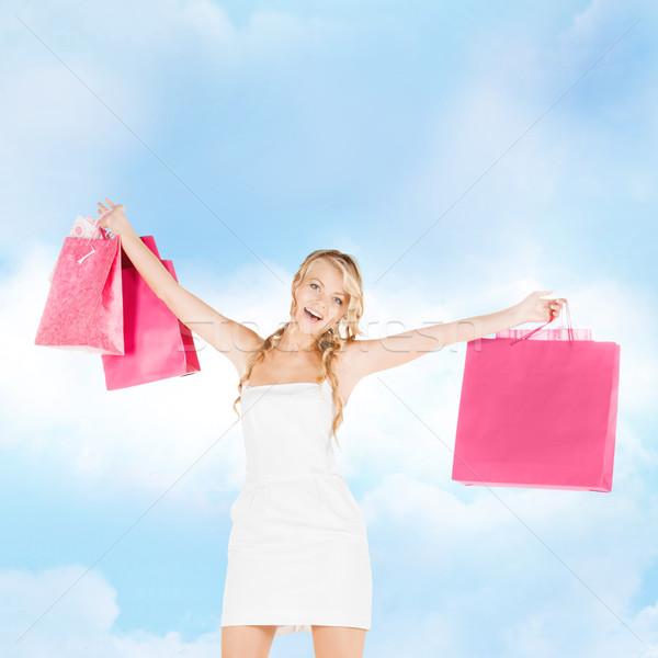 Kadın elbise yüksek topuklu perakende satış Stok fotoğraf © dolgachov